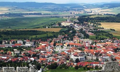 Zdjęcie SłOWACJA / Spisz / okolice Spiskiego Podgrodzia / panorama Spiskiego Podgrodzia