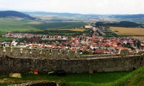 SłOWACJA / Spisz / okolice Spiskiego Podgrodzia / widok z zamku