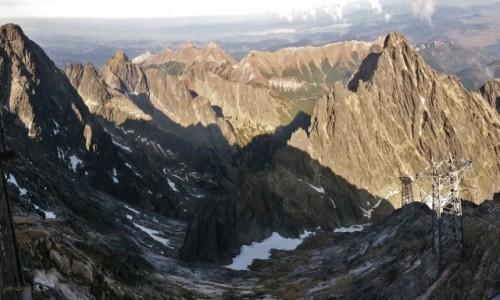 SłOWACJA / Wysokie Tatry. / Łomnica 2634 m. / Tatry Bielskie z Łomnicy 2634 m.