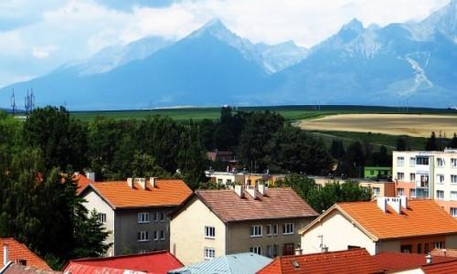 Zdjęcie SłOWACJA / Spisz / Kieżmark / panorama Tatr z murów zamku