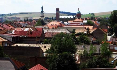 Zdjecie SłOWACJA / Spisz / Kieżmark / dachy Kieżmarku widok z murów zamku