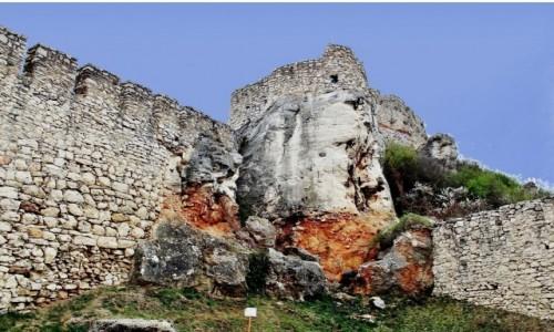 Zdjęcie SłOWACJA / Kraj koszycki / Żehra / Zamek Spiski - fragment murów obronnych