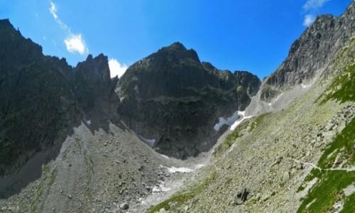 Zdjecie SłOWACJA / Lodowa Przełecz 2372 m. / Dolinka Lodowa.  / Panorama z Dolinki Lodowej (Dolinka pod Siedelkom)