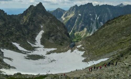 Zdjecie SłOWACJA / Tatry / przełęcz waga / poniżej schronisko pod rysami