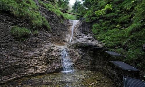 Zdjecie SłOWACJA / Spisz / Słowacki Raj - zielony szlak Sucha Bela / Wodospad korytkowy