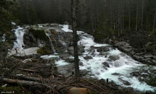 Zdjecie SłOWACJA / Wysokie Tatry. / Wodospady Zimnej Wody. / Wodospady Zimnej Wody - Wielki Wodospad (Veľký vodopád),