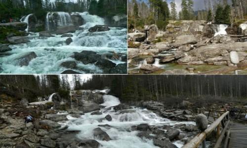 SłOWACJA / Wysokie Tatry. / Wodospady Zimnej Wody - Wielki Wodospad. / Ten sam a jakże inny.