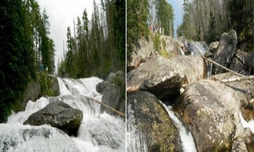 SłOWACJA / Wysokie Tatry. / Wodospady Zimnej Wody. / Długi Wodospad w lipcu i we wrześniu.