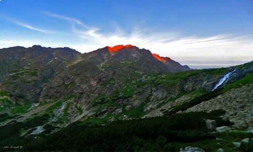 SłOWACJA / Wysokie Tatry. / Dolina Wielicka. / Gerlach o wschodzie słońca.