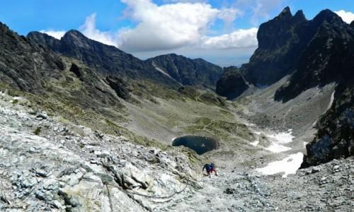 SłOWACJA / Wysokie Tatry. / Lodowa Przełęcz (Siodełko) 2372 m. / Dolinka Lodowa z Lodowej Przełęczy (Siodełka)