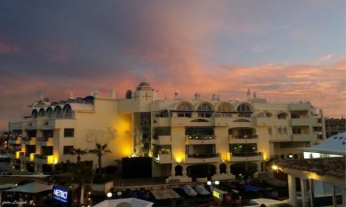 Zdjecie HISZPANIA / Costa del Sol. / Benalmadena. / Benalmadena - Zachód słońca z balkonu.