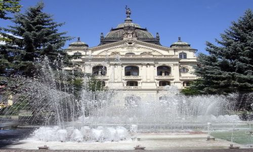 Zdjęcie SłOWACJA / brak / Koszyce / Tańczące fontanny