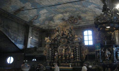 Zdjecie SłOWACJA / Kezmark / Kezmark / Kościół w Kezmarku, wnętrze