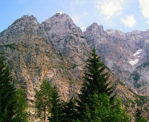 Zdjęcia: W drodze na przełecz Vrsicz, Alpy Julijskie, W drodze na przełecz Vrsicz, SłOWENIA