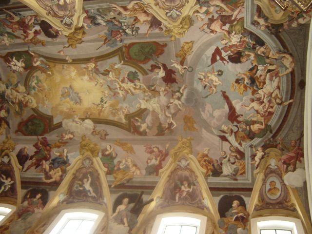 Zdjęcia: Lublana, Freski w katedrze Św.Mikołaja w Lubianie, SłOWENIA