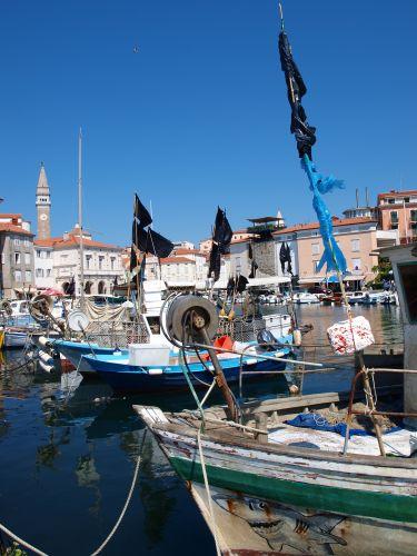 Zdjęcia: Piran, wybrzeże, port, SłOWENIA
