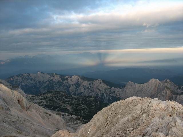 Zdj�cia: widok z Ma�ego Triglavu, Triglavski Narodni Park, Alpy Julijskie, S�OWENIA
