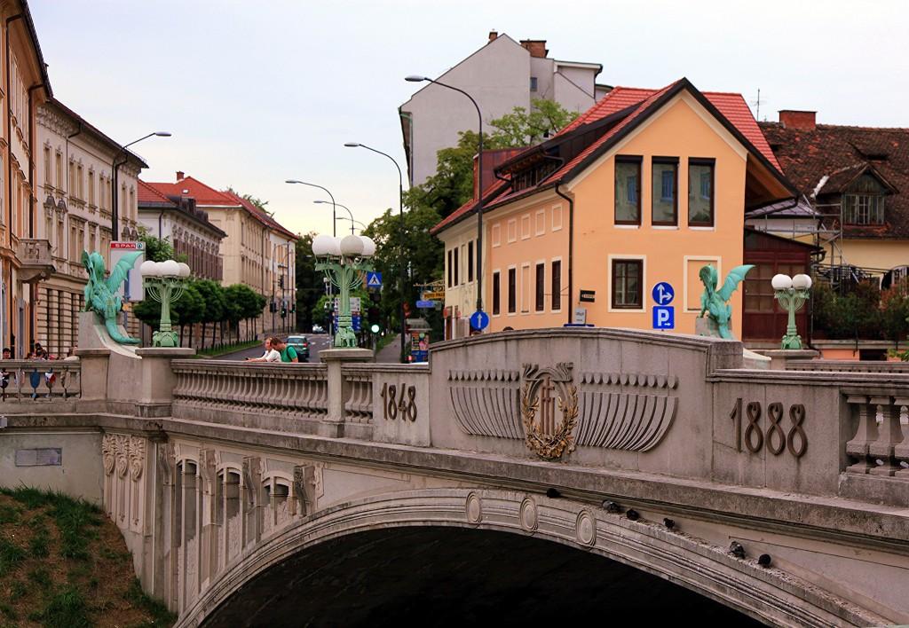Zdjęcia: Stare Miasto, Lubiana, Most Smoka, SłOWENIA
