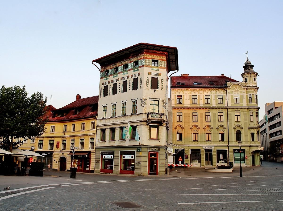 Zdjęcia: Lublana, Primorje, Dom Hauptmanna z 1873 roku, SłOWENIA