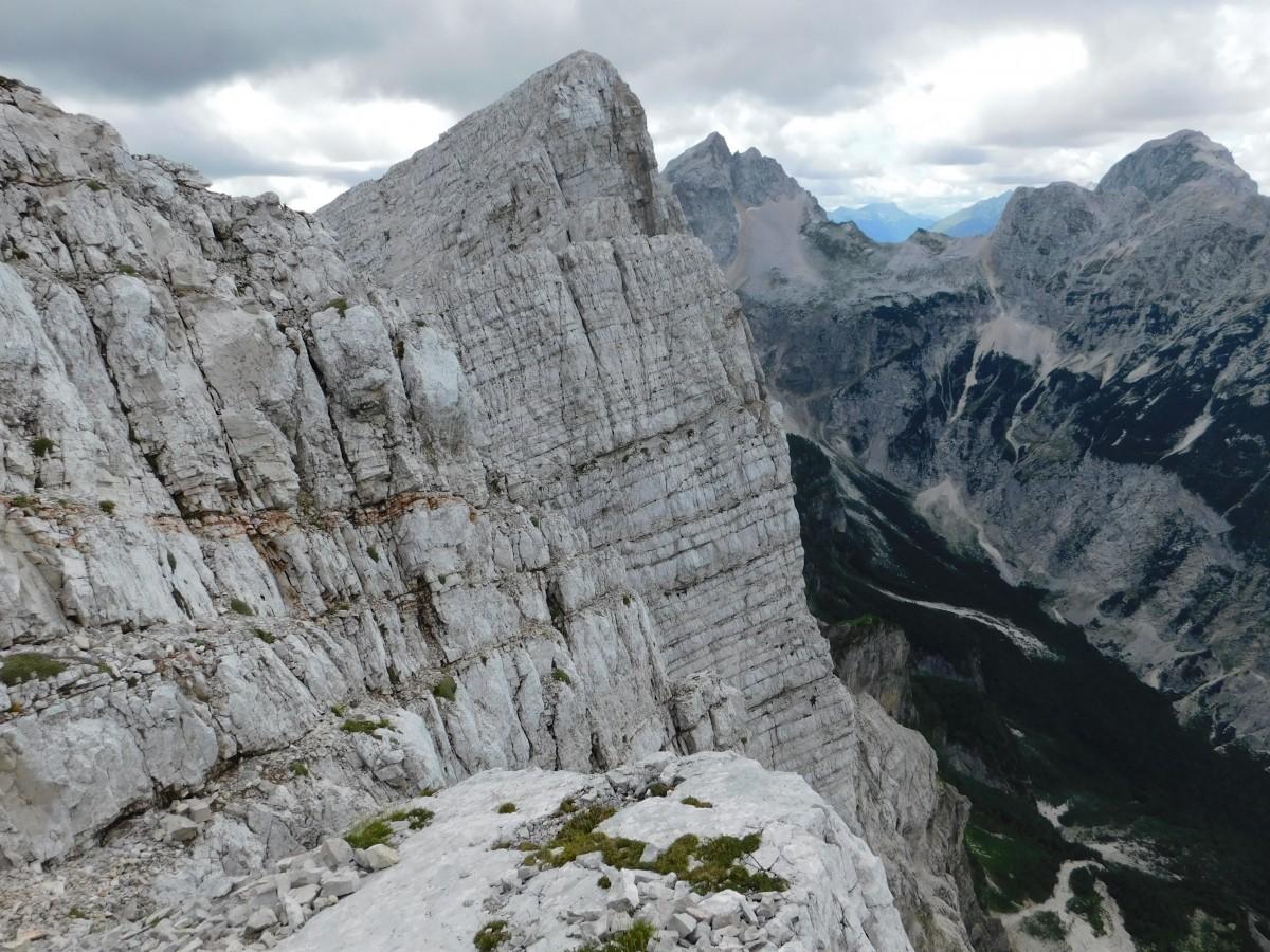 Zdjęcia: mała mojstrovka, Alpy Julijskie, widok ze szczytu , SłOWENIA