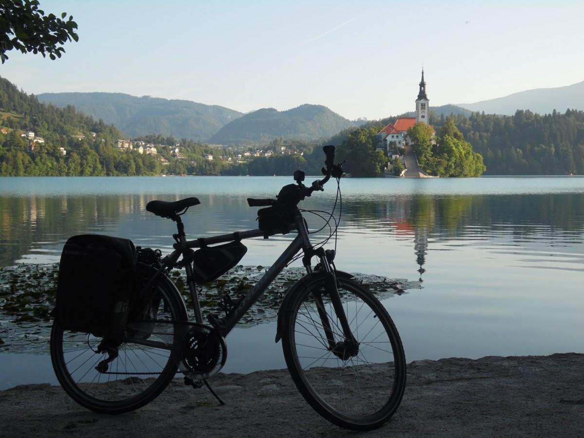 Zdjęcia: jez.Bled, jez.Bled, Z rowerem na Płd. Europę, SłOWENIA
