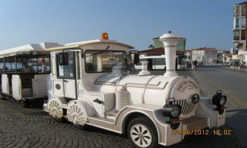 SłOWENIA / Słowenia / Piran (Pirano) / Turystyczny pociąg kołowy :-)