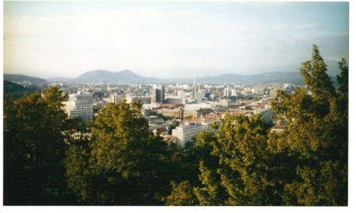 Zdjecie SłOWENIA / Słowenia / Liubljana / Panorama Liubljany