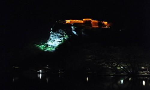 Zdjęcie SłOWENIA / Górna Kraina / Bled / Bled, zamek na skale nocą