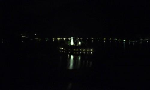 Zdjęcie SłOWENIA / Górna Kraina / Bled / Bled, kościół na wyspie jeziora nocą
