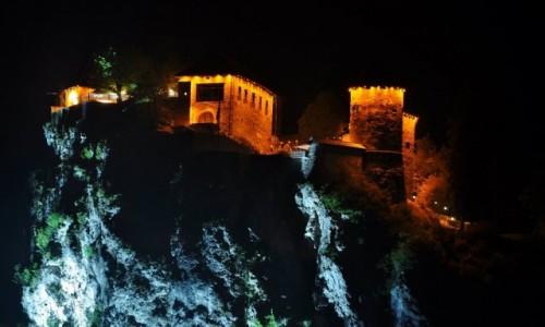 Zdjecie SłOWENIA / Górna Kraina / Bled / Bled, zamek na skale nocą