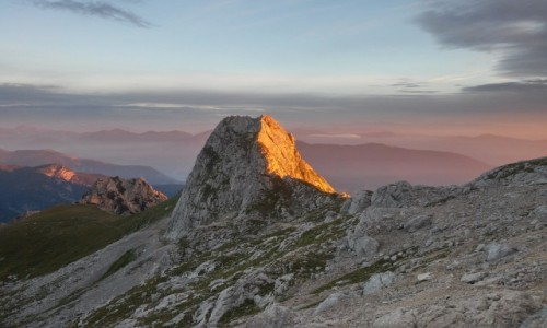 Zdjecie SłOWENIA / alpy julijskie / okolice Mangart / wschód słońca pod Mangart...
