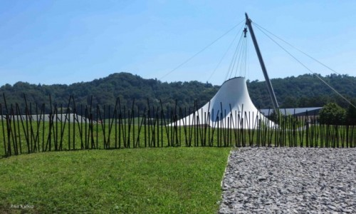 Zdjecie SłOWENIA / Słowenia Wschodnia / Olimje / Terme Olimje - dach nad basenami