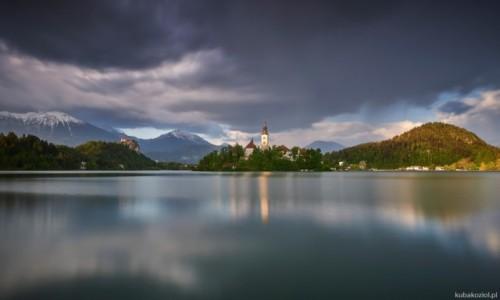 Zdjecie SłOWENIA / Blejsko Jezero / Jezioro Bled / Ostatni promień
