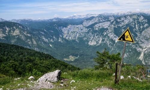 Zdjecie SłOWENIA / Alpy Julijskie / Ukanc / nauka spadania...
