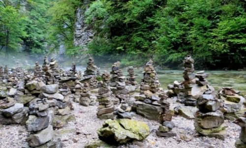 Zdjecie SłOWENIA / Alpy Julijskie / Triglavski Park Narodowy-wąwóz Vintgar / szczypta mistycyzmu...