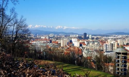 Zdjecie SłOWENIA /  Ljubljana / Wzgórze zamkowe / Panorama  Ljubljany