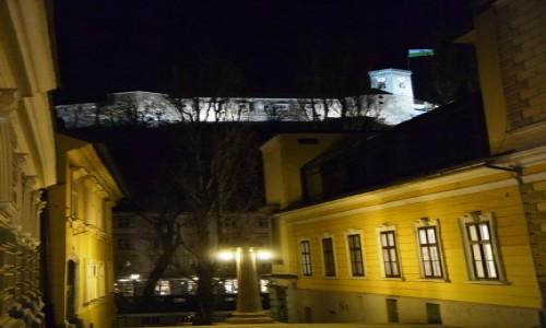 Zdjecie SłOWENIA / Ljubljana / Plac Kongresowy / Ljubljana nocą