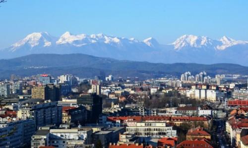 Zdjecie SłOWENIA / Ljubljana / Ljubljana / Na tle Alp