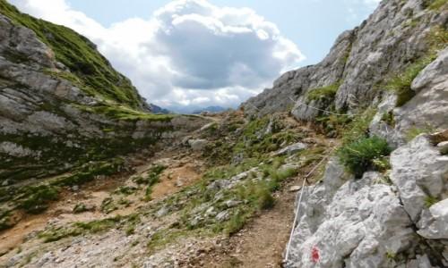 SłOWENIA / Alpy Julijskie / gdzieś na szlaku / w drodze na mała mojstrovka