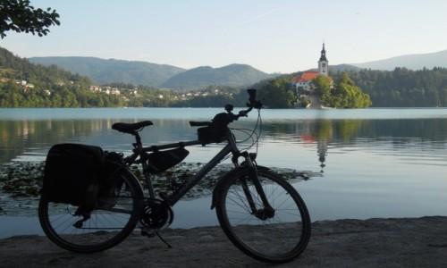 Zdjecie SłOWENIA / jez.Bled / jez.Bled / Z rowerem na Płd. Europę