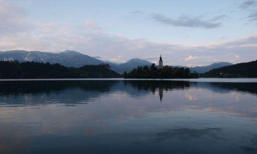 Zdjecie SłOWENIA / Alpy / Jezioro Bled / wieczorem...