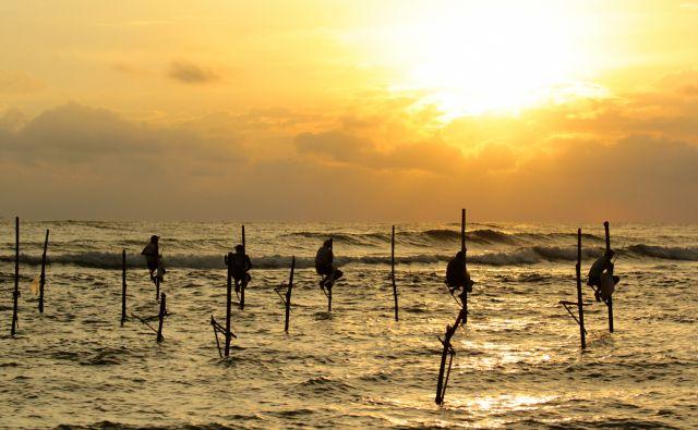 Zdjęcia:  Weligama,  Weligama, Rybacy ze Sri Lanki, SRI LANKA