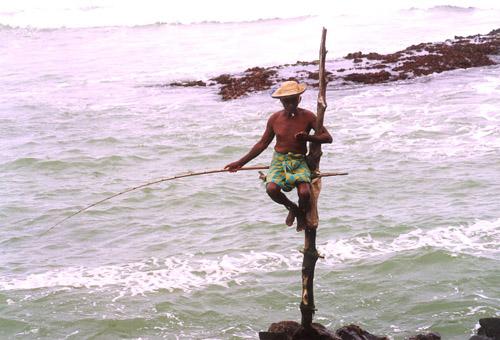 Zdjęcia: Ocean Indyjski, Południe, Wędkarze, SRI LANKA