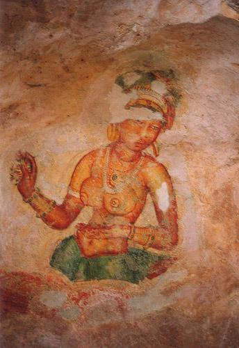 Zdj�cia: sl, Freski - Sigiryja, SRI LANKA