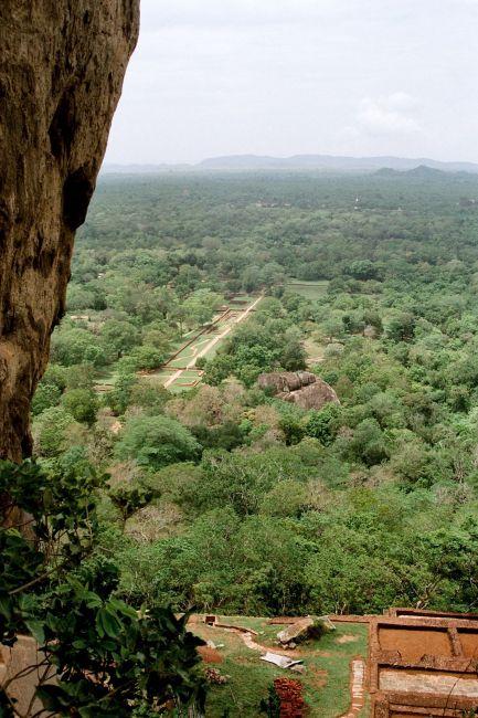 Zdjęcia:  na skale, Sigiria, widok z twierdzy, SRI LANKA
