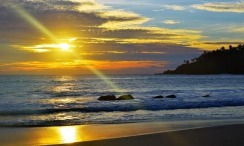 Zdjecie SRI LANKA / Mirissa / Mirissa beach / Zachód słońca