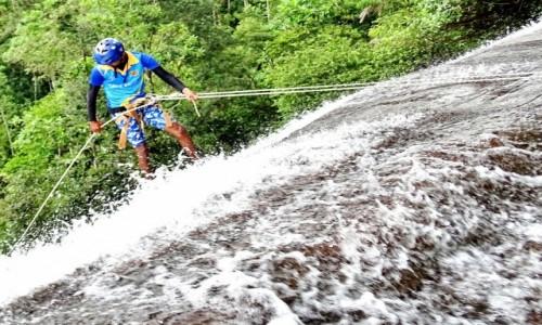 Zdjecie SRI LANKA / Kitulgala / Sandun Ella / Zjazd po wodospadzie