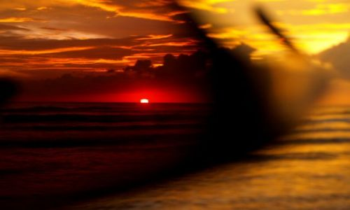 SRI LANKA / Beruwala / Ocean Indyjski / przez podwójne szkła