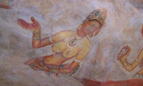 Zdjecie SRI LANKA / środkowa Sri Lanka / Sigiriya / Malowidła z Sigiriya (Lwia Skała)