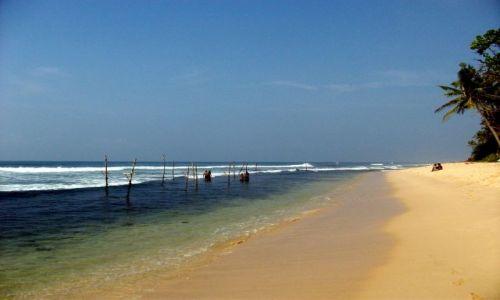 Zdjecie SRI LANKA / ... południowa część wyspy ... / ... gdzieś pomiędzy Galle a Matarą... / ... złote piask